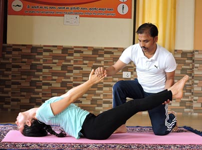 Yoga Adjustment in Rishikesh