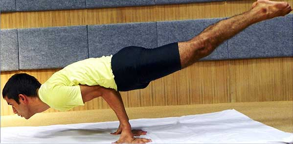 Mayurasana - Ganesh Prasad Yoga Teacher in Rishikesh